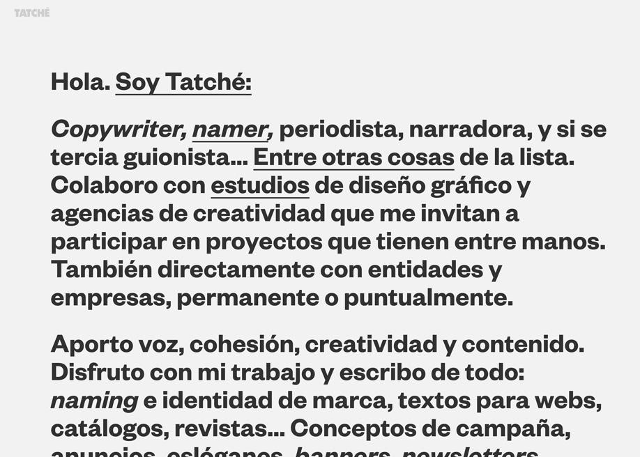 Hola. Soy Tatché