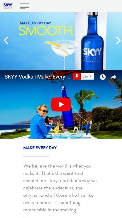 Skyy Vodka Mobile Report