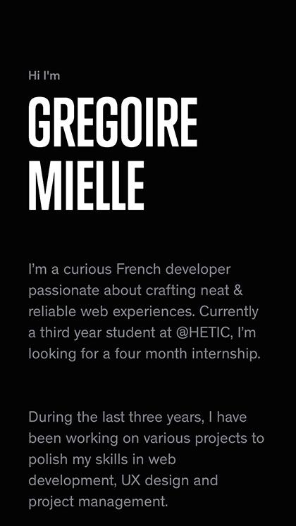 Grégoire Mielle — Portfolio