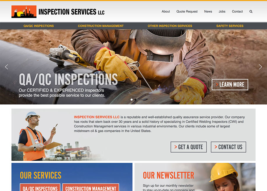 Inspection Services LLC - Awwwards Nominee