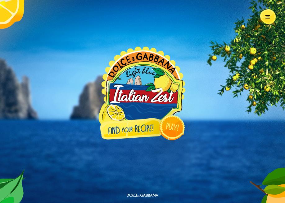 d5e53f9558a Light Blue Italian Zest by Dolce   Gabbana - Awwwards Nominee