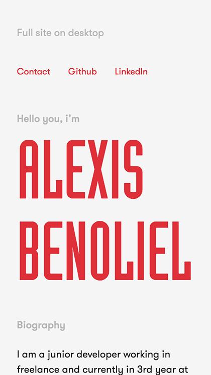 Alexis Benoliel - Portfolio