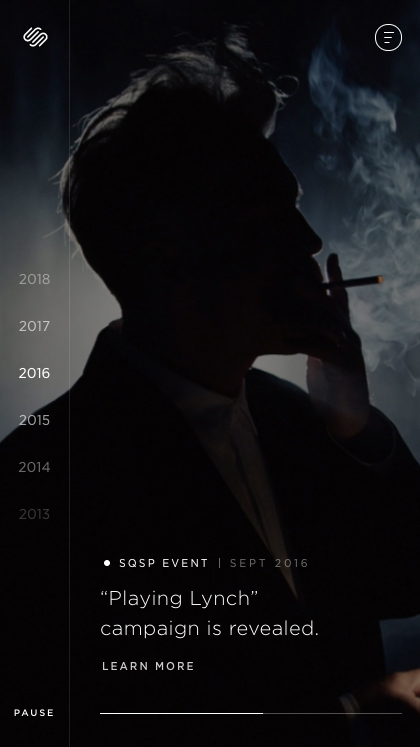 Squarespace Timeline