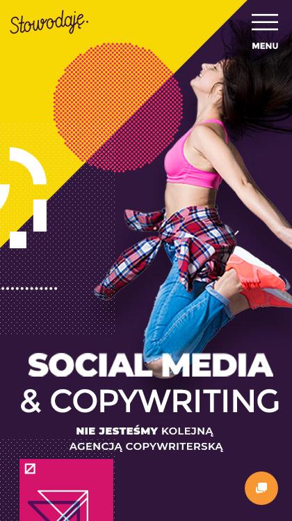 Social media services website