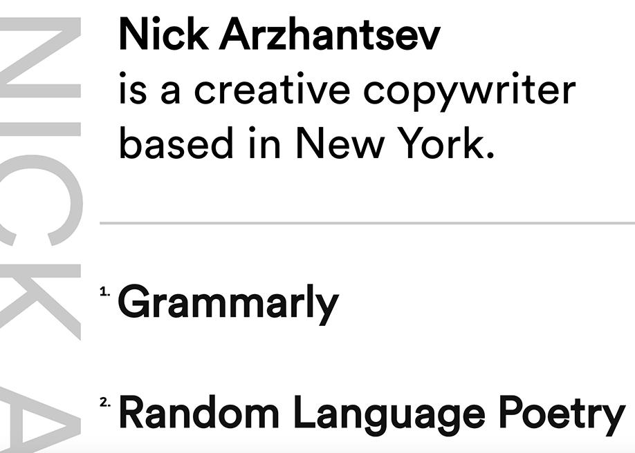 Nick Arzhantsev Portfolio
