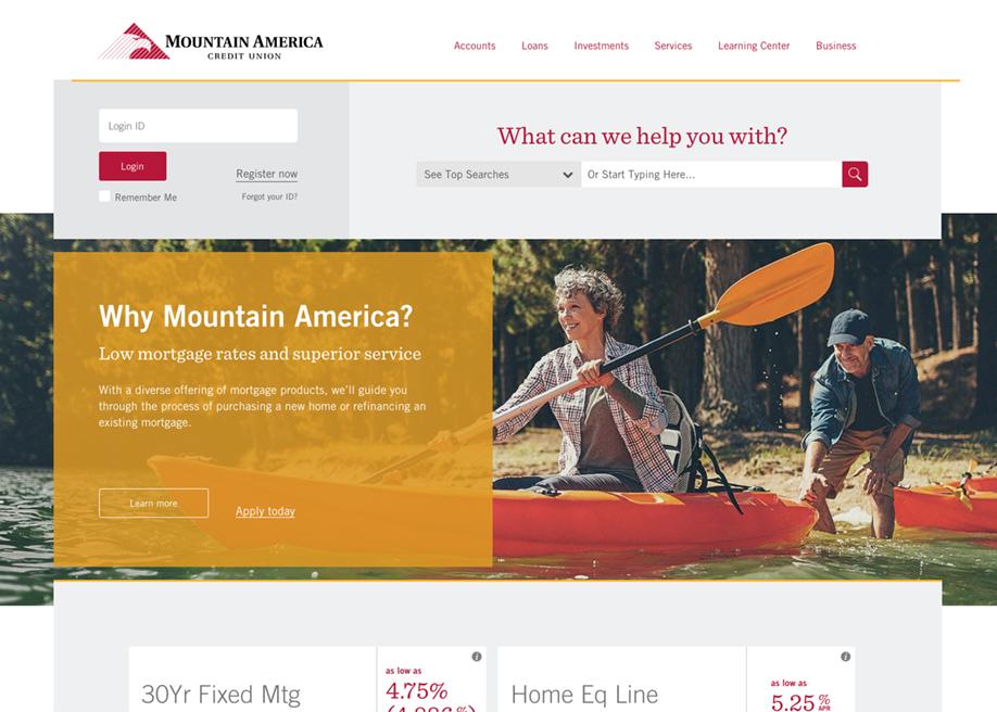 Mountain America Credit Union - Awwwards Nominee