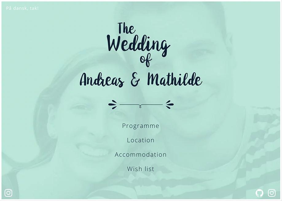 Andreas & Mathilde · Wedding