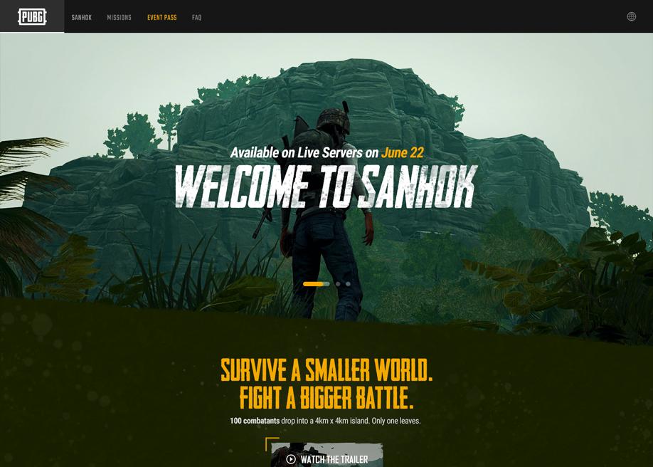 Pubg Wallpaper Welcome To Sanhok: PUBG Sanhok Microsite