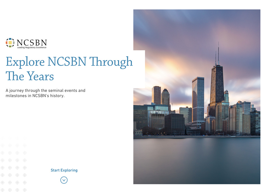 NCSBN 40th Anniversary Website