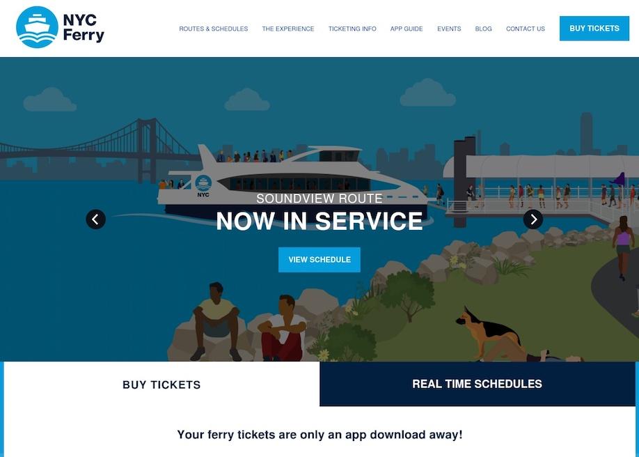 NYC Ferry - Awwwards Nominee