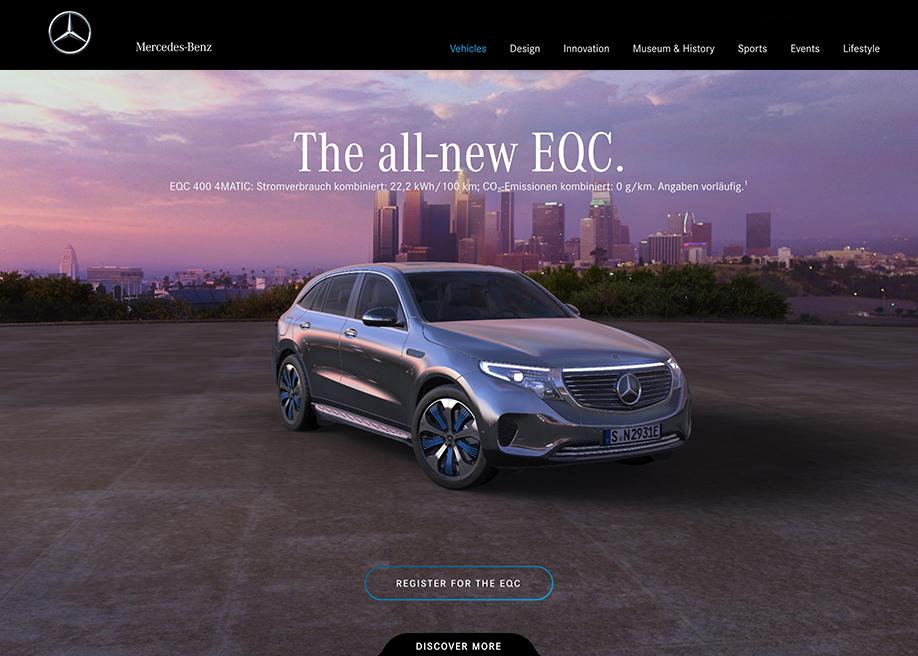 Mercedes-Benz EQC - Awwwards SOTD