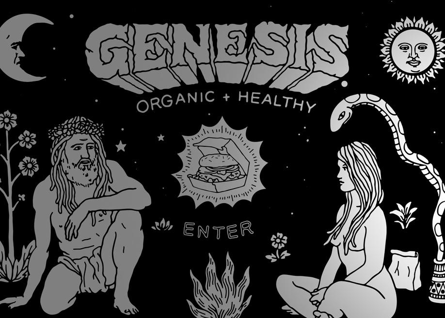 Genesis black and white design