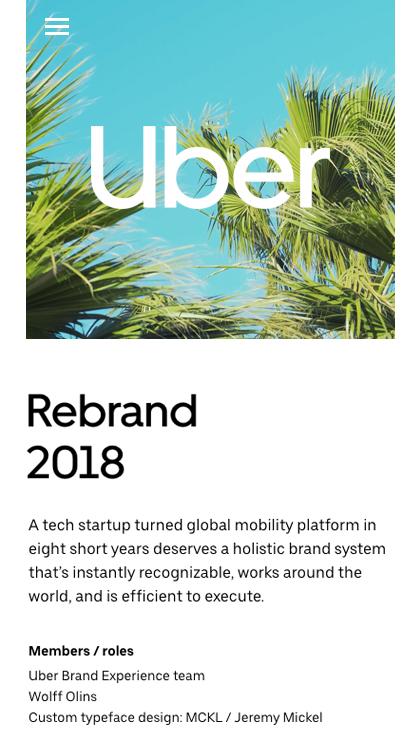 Uber 2018 Brand Case Study - Mobile Report