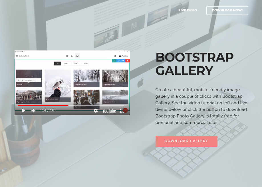 Bootstrap Gallery Example - Awwwards Nominee