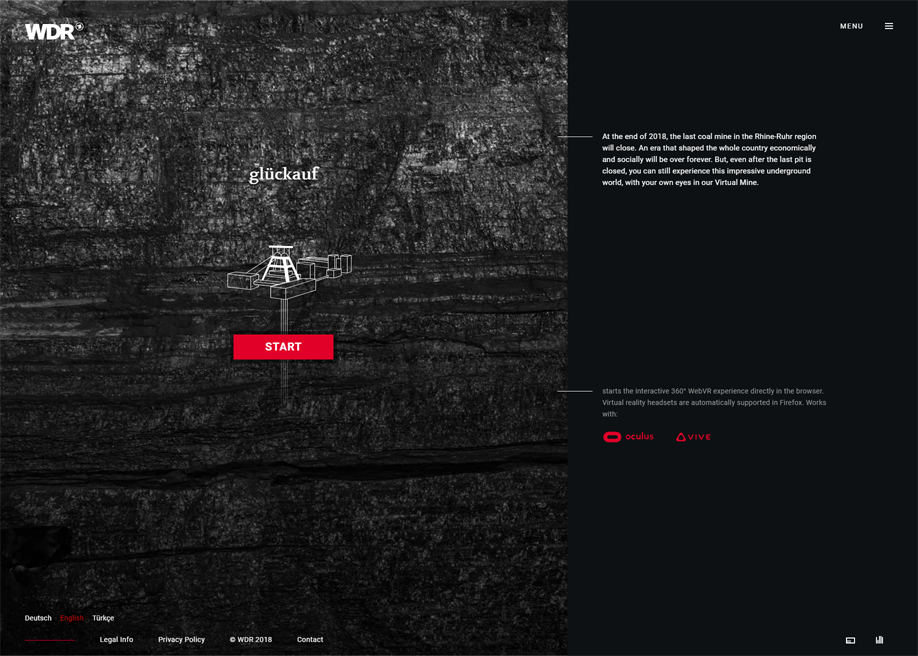 WDR Glückauf   VR Coal Mine