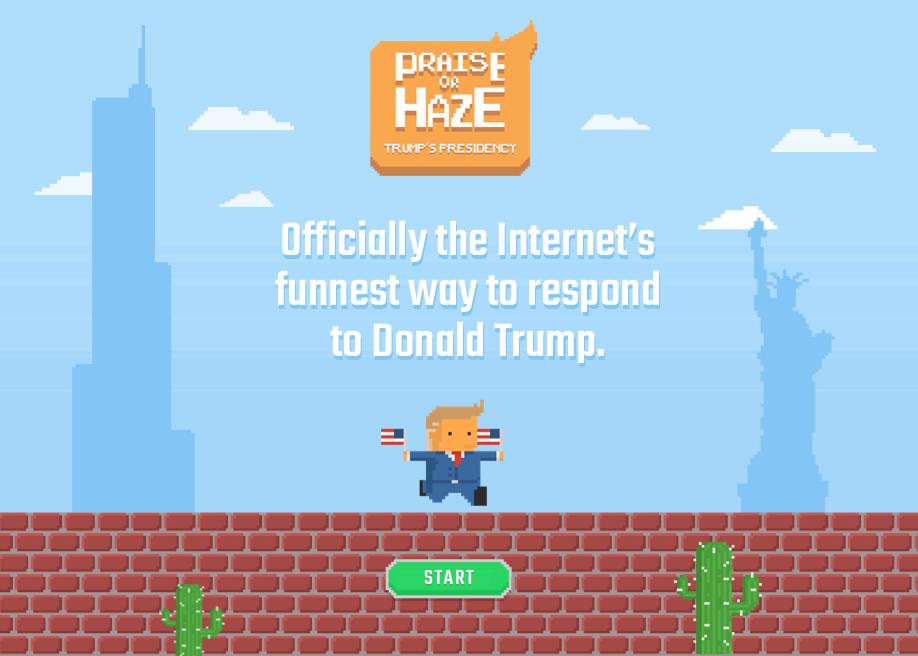 Praise or Haze Trump