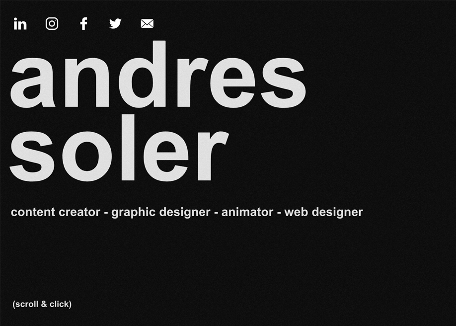 The Portfolio of Andres Soler