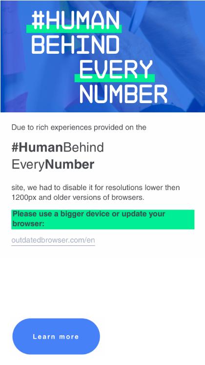 #HumanBehindEveryNumber