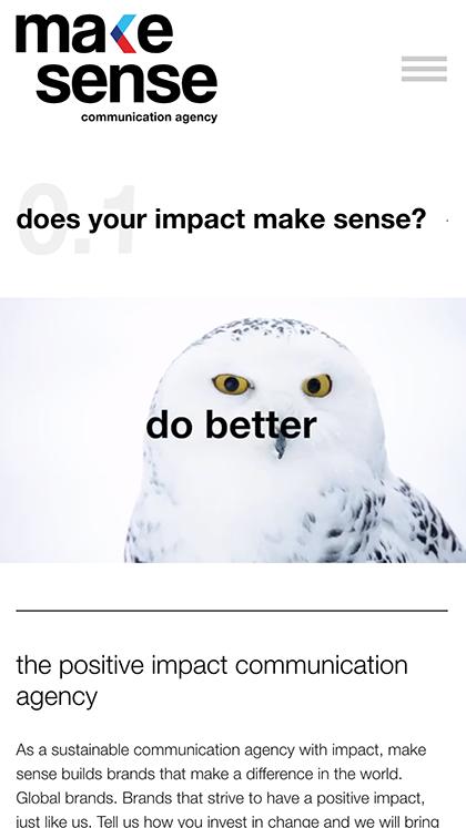 We can make sense