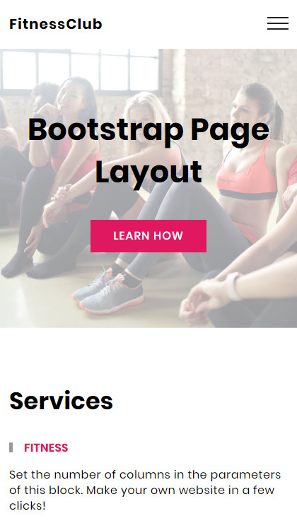 Bootstrap Page Layout - Sports