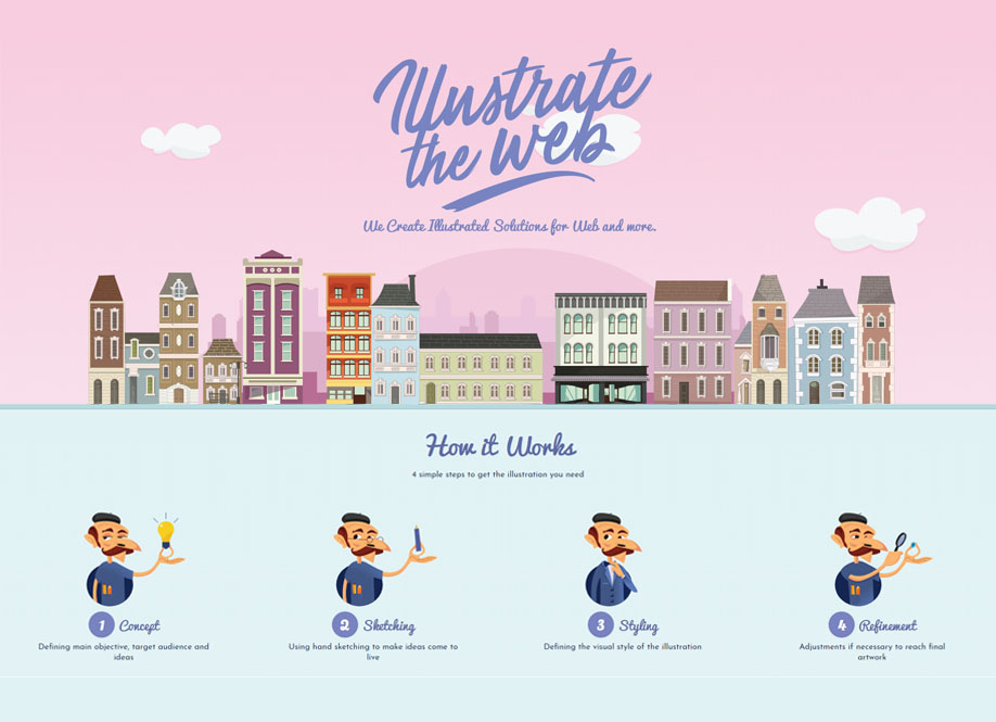 Illustrate the web