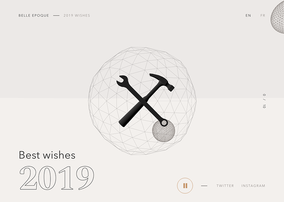 Belle Epoque 2019 wishes - Awwwards Nominee