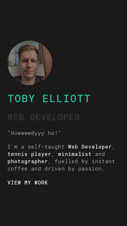 Toby Elliott - Web Developer