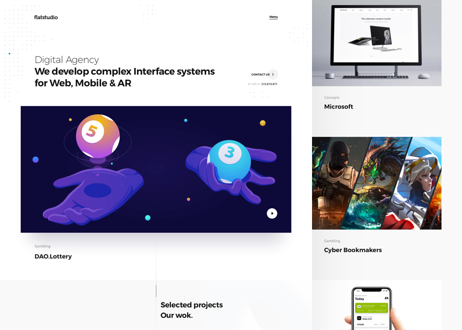 Flatstudio. Complex interfaces