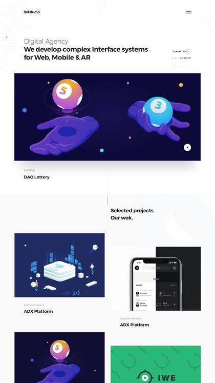Flatstudio. Complex interfaces