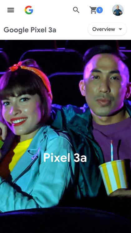 Google Pixel 3a — Launch Page