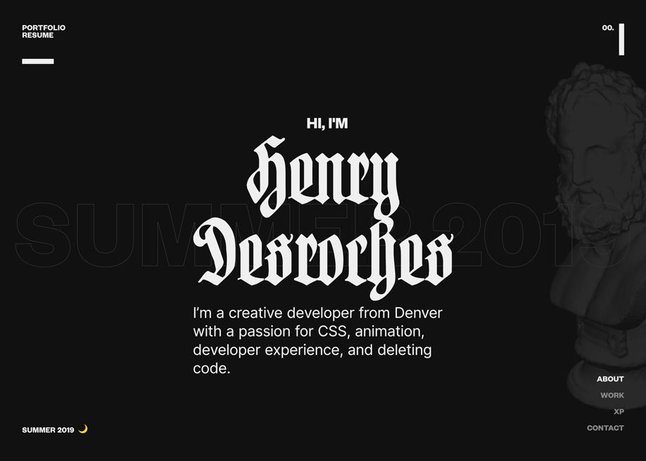 Henry Desroches Portfolio