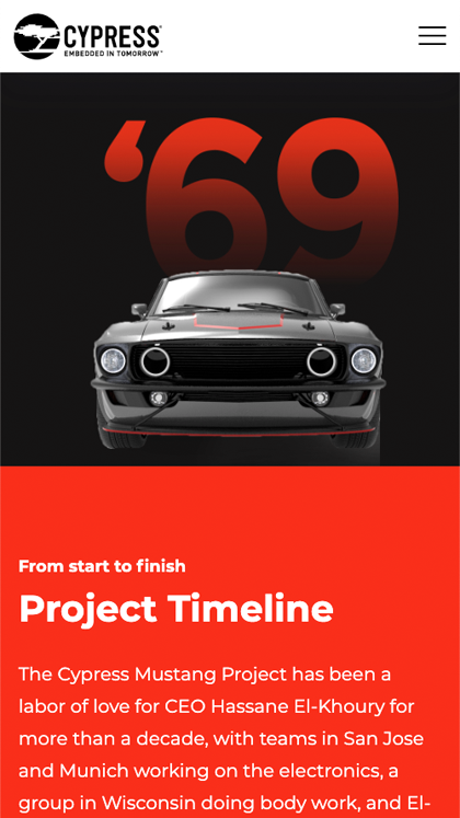 The Cypress Mustang Project