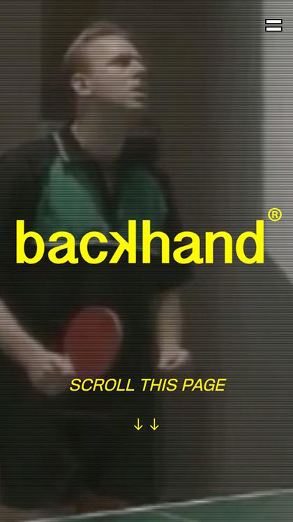 backhand agency