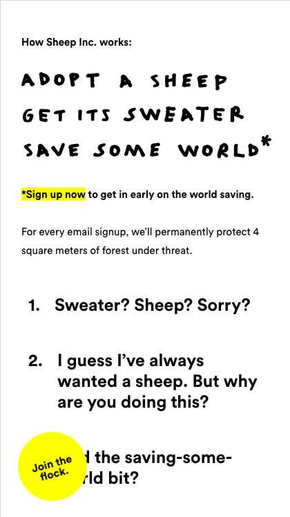 Sheep Inc. - Campaign Site