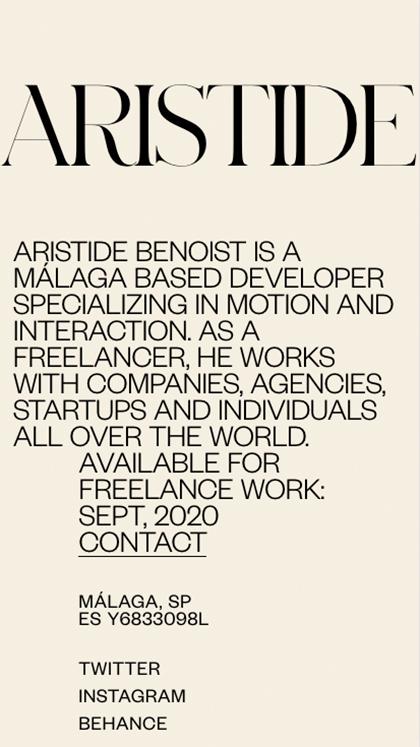 Aristide – Portfolio 2019