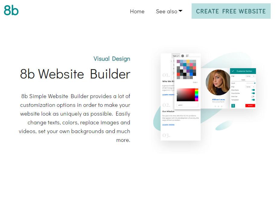 8b Simple Website Builder Awwwards Nominee