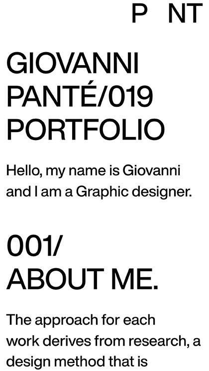Giovanni Panté / Portfolio