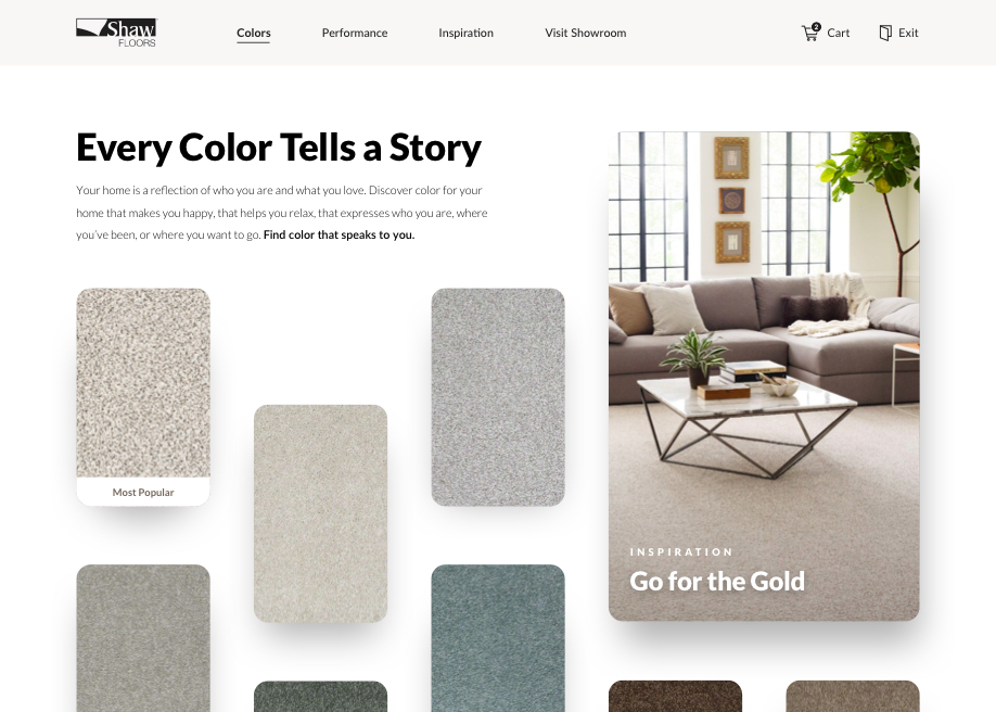 Shaw Floors Color Speaks Awwwards Nominee