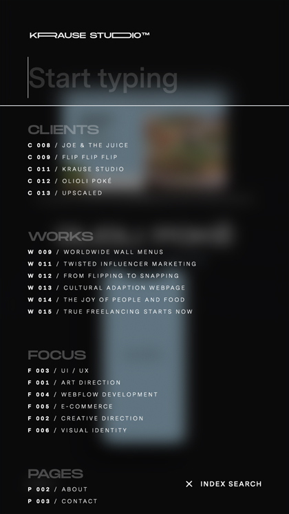 Krause Studio → Portfolio