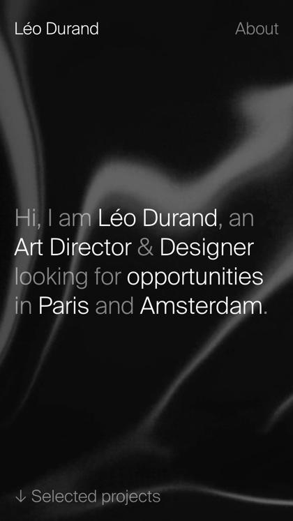 Léo Durand · Portfolio