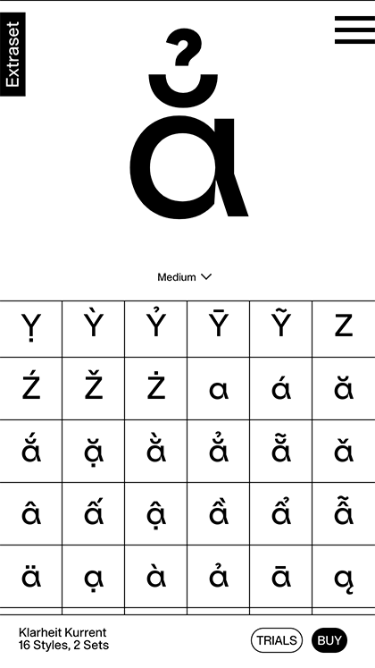 Extraset Type Foundry