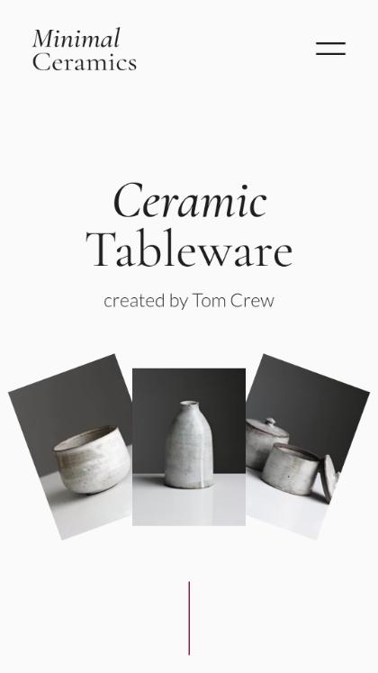 Ceramic Tableware by Tom Crew