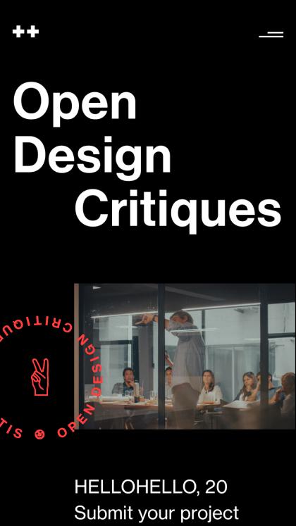 Open Design Critiques