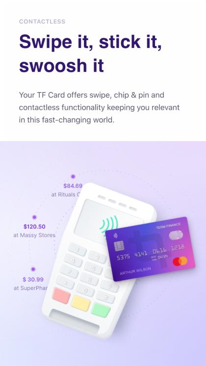 My Term Finance Card