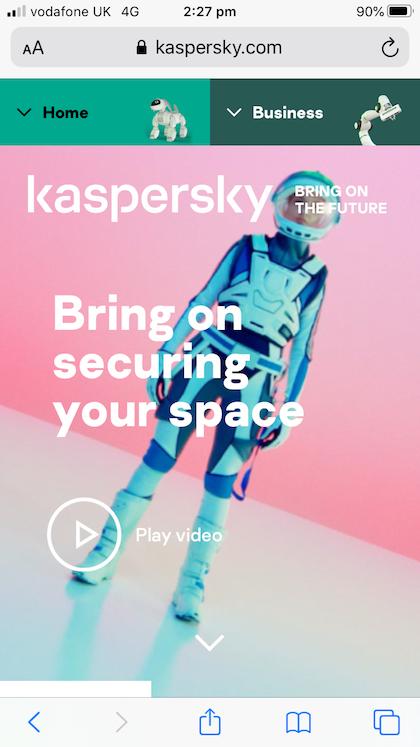 Kaspersky brand website