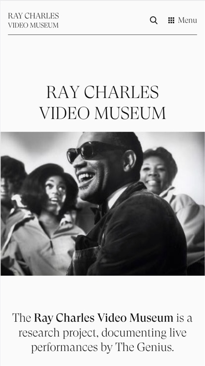 Ray Charles Video Museum