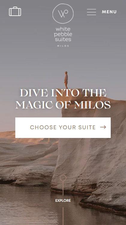 White Pebble Suites Milos