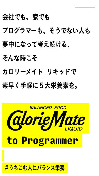 CalorieMate to Programmer