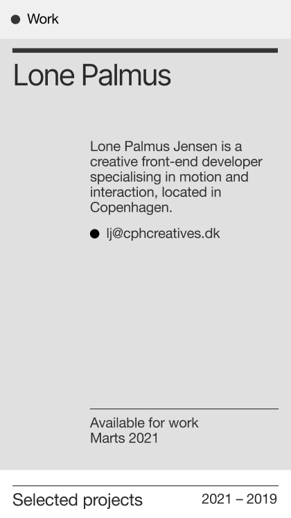 Lone Palmus Creative Front-End