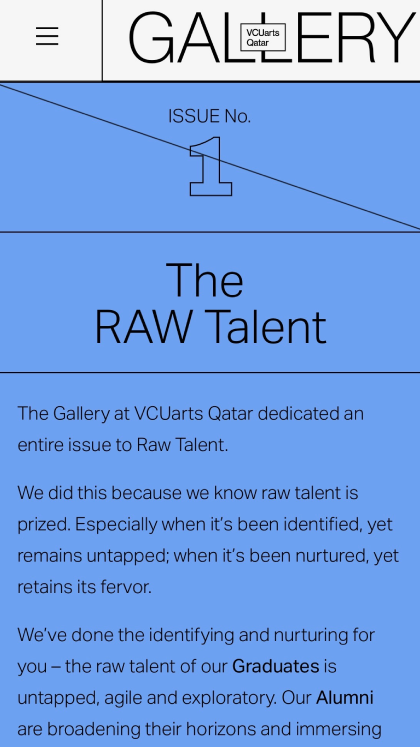 The Gallery at VCUarts Qatar